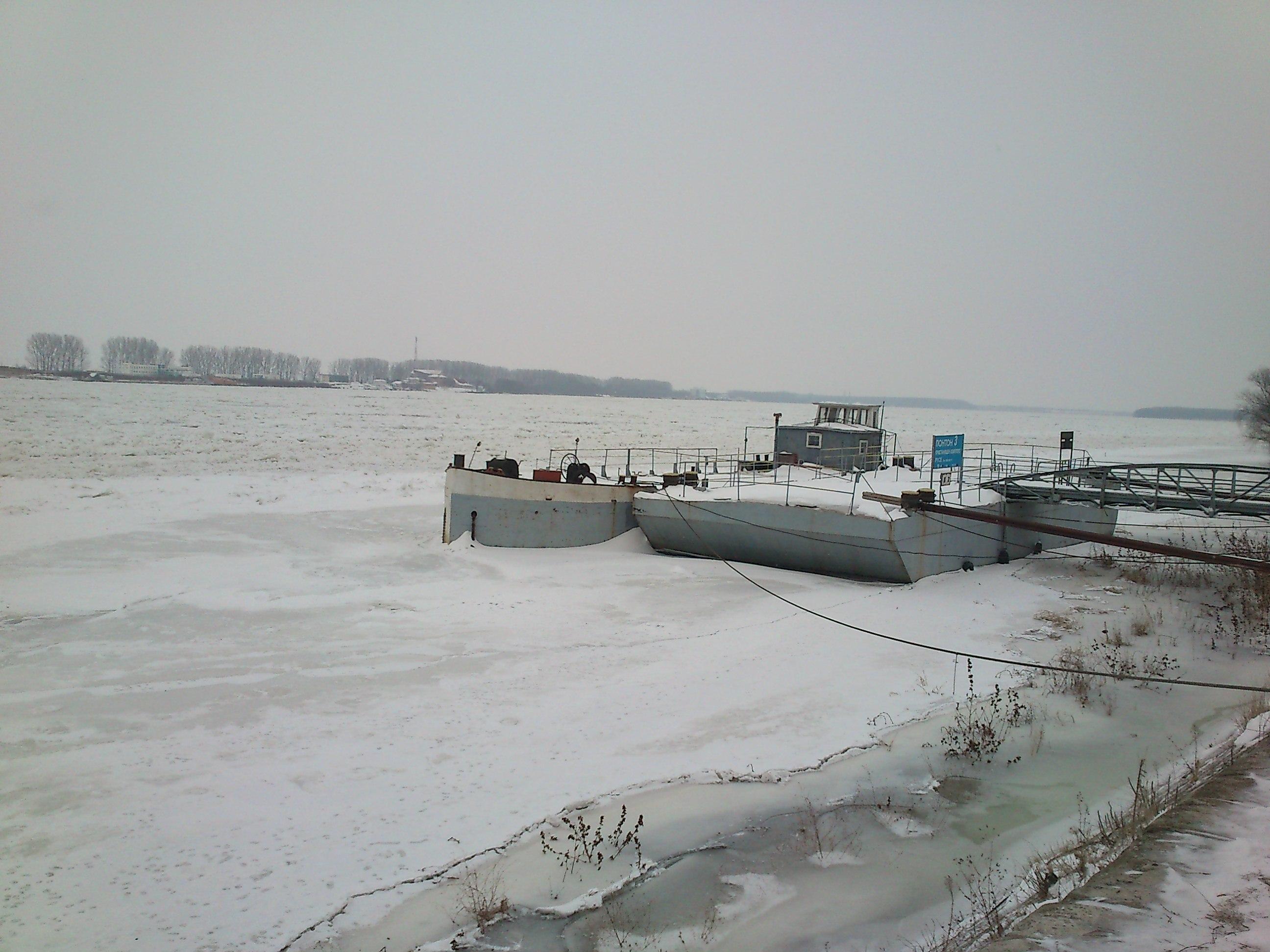 Река Дунав продължава да замръзва