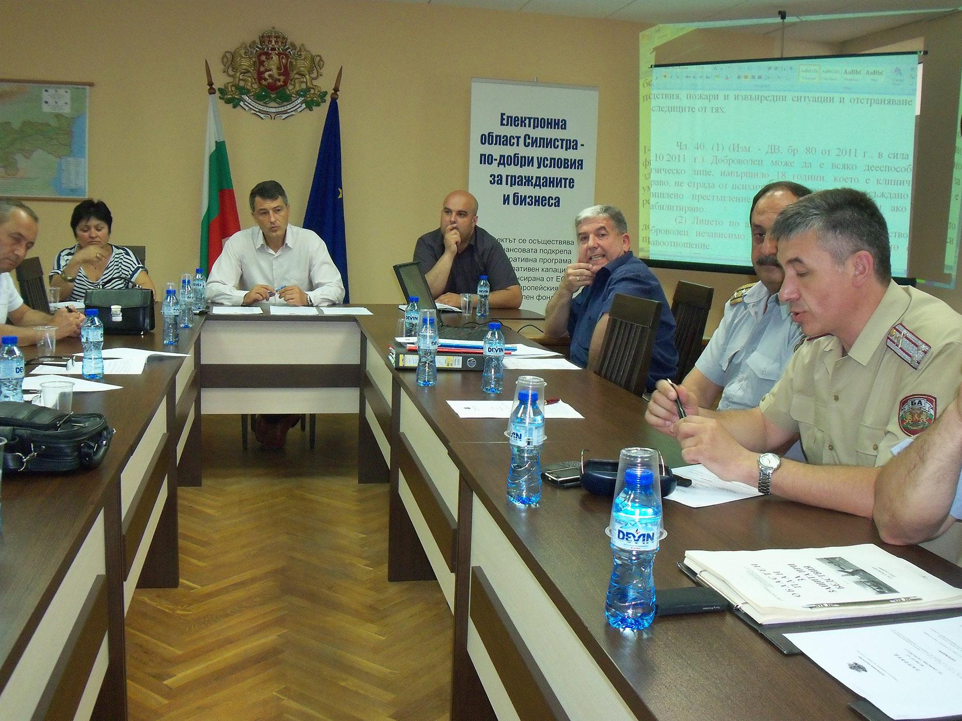 Областният план за защита при бедствия на Област Силистра беше одобрен