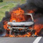 Автомобил е изгорял в село Айдемир