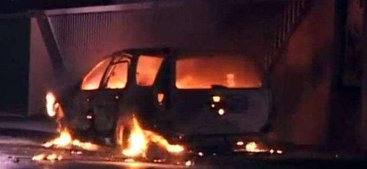 Автомобил изгоря в Айдемир