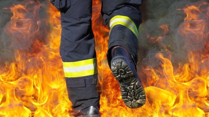 Два тона фураж изгоря , след небрежна работа с огън