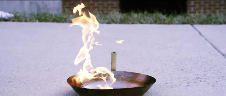 Забравен тиган на котлона, опожари цяла кухня