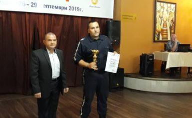 """Две индивидуални награди от Националния конкурс """"Пътен полицай на годината"""" за автоконтрольор от Дулово"""